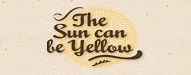 The sun can be yellow