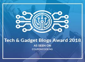 Banners for Tech & Gadget Blogs Award 2018